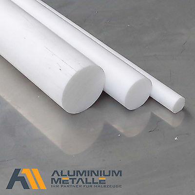 60cm Polyamid PA6 Rundstab natur /Ø 10mm L: 600mm Kunststoffstab Zuschnitt