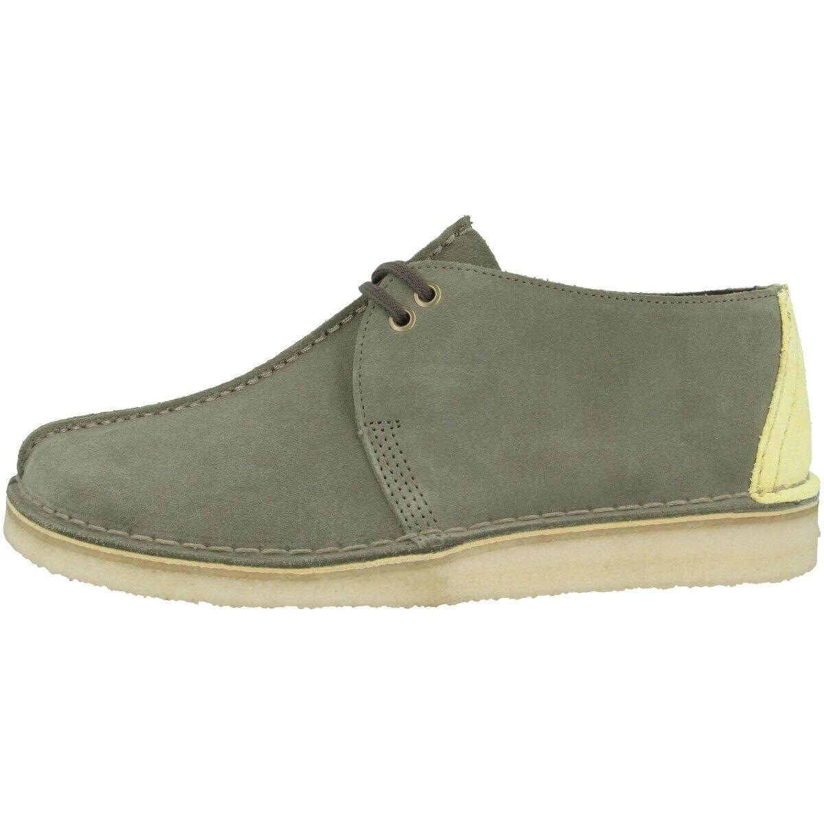 Clarks Desert Trek zapatos Men calcetines de tiempo libre schnürzapatos Sage Suede 26139210