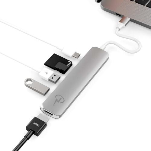 MacBook Pro 2018-16 Silver USB C Multiport Adapter for Apple MacBook Air 2018
