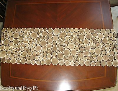 "NEW 100% NATURAL GENUINE BROWN WOOD+BRANCH TABLE RUNNER-60""x13.5"""