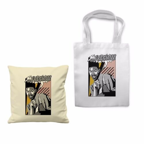90/'s Fresh Prince Swag Hipster Will Smith Cushion Cover Shopping Tote Bag Gift