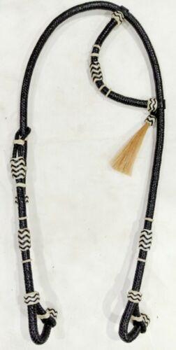 Western Raw-hide Braid One-ear Headstall//bridle Rawhide Futurity Hair Knot BL125