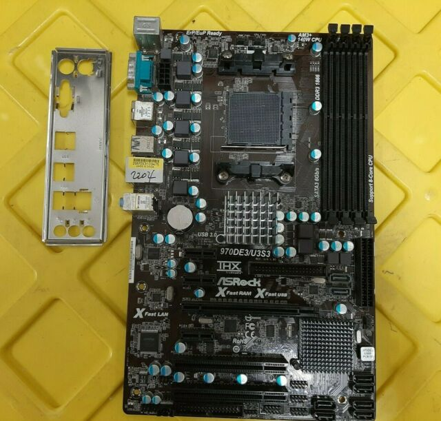 ASRock 970DE3/U3S3 rev1.03, Sockel AM3/AM3+ + IO-Shield