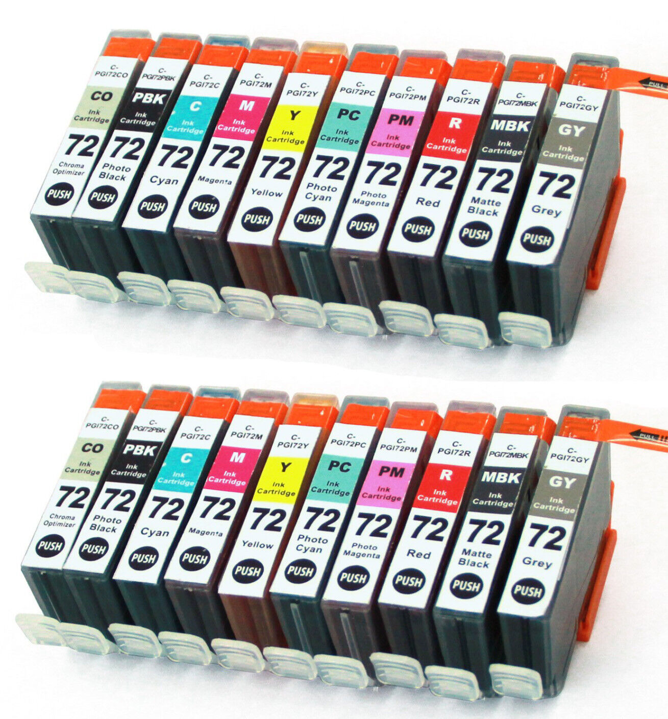 Yellow, 3 Pack MS Imaging Supply Compatible Inkjet Cartridge Replacement for Canon PGI-72Y