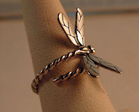 Bali Couture Sterling Silver / 18k Gold Butterfly Wrap Ring Size 7