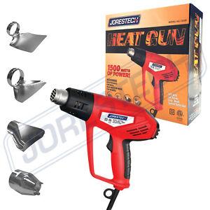 Heat Gun Hot Air Gun Dual Temperature 4 Nozzles Tool 1500 W Jorestech