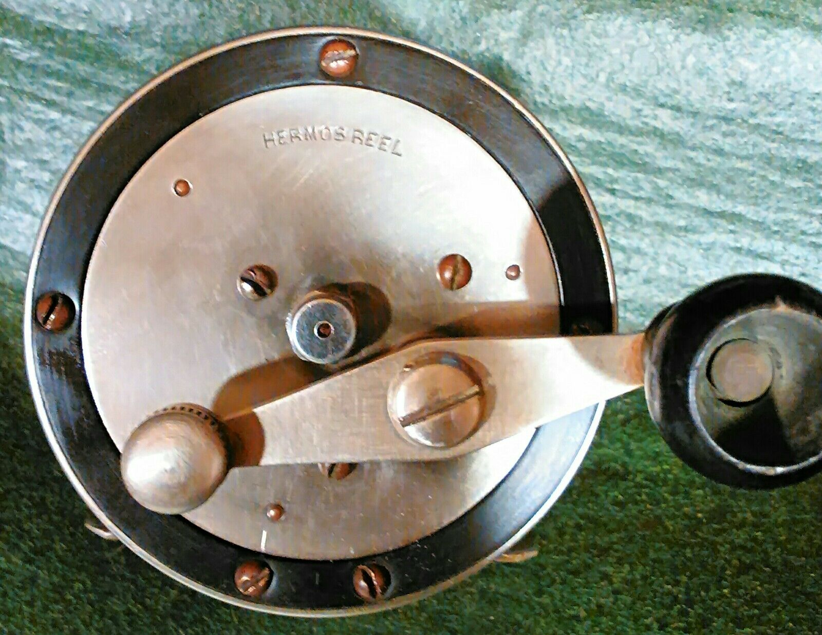 Antique Hermos Conventional Salt Water  Reel  first-class quality