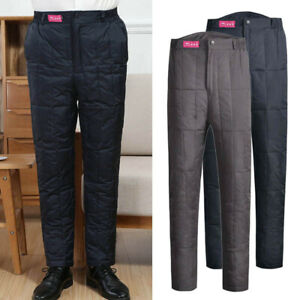 Men/'s Puffer Padded Trousers Pants Duck Down Straight Quilted Winter Warmer