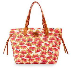 Dooney & Bourke Grapefruit Shopper BPOML2437 Handbag Purse New w/Tags