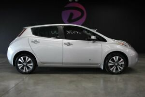 2016 Nissan Leaf SL 30 KWH WHITE LOW KM FAST CHARGED LEATHER SUMMER
