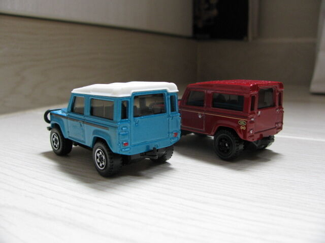 1 1 1 62 Matchbox Land Rover Defender 90 diecast (2pcs) ebd321