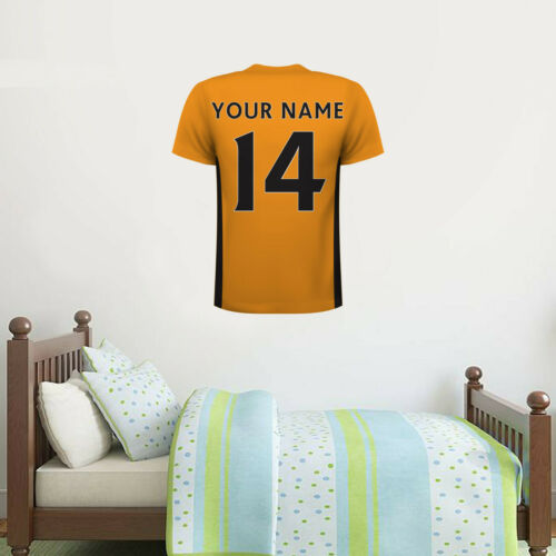 Wolves Decal Set Wolves FC Personalised Name and Number Shirt Wall Sticker