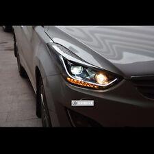 LED Q5 Style Dual Projector DRL Headlights For Hyundai Elantra 2011~2013