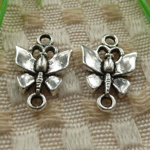 free ship 95 pieces tibetan silver butterfly connector 19x12mm #4227