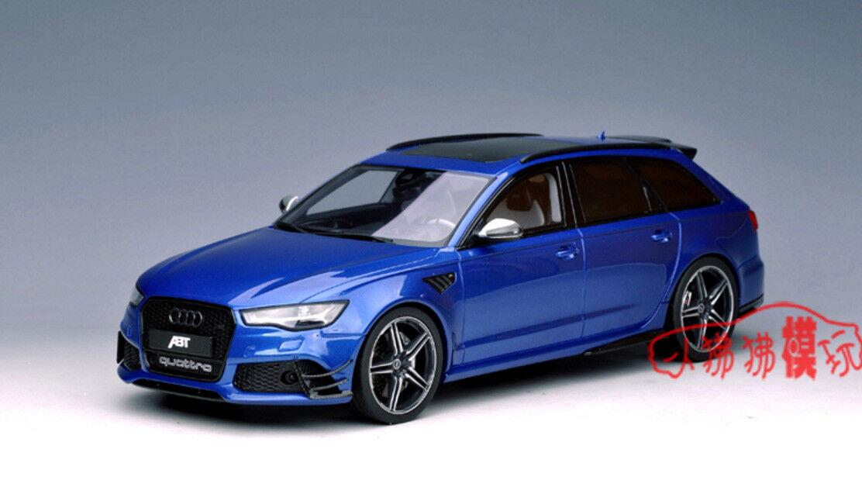 GT Spirit 1 18 Audi RS6 ABT Avant C7 Tour Car Die Cast Model bluee RARE