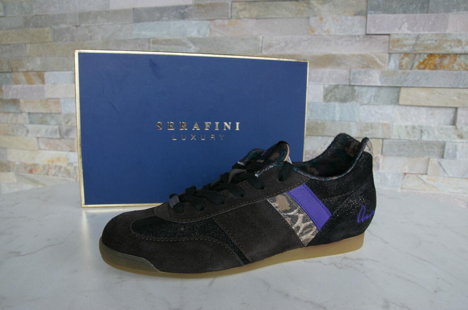Zapatos promocionales para hombres y mujeres SERAFINI LUXURY Sneakers Gr 41 Schnürschuhe Schuhe Scarpe Animal neu UVP 195