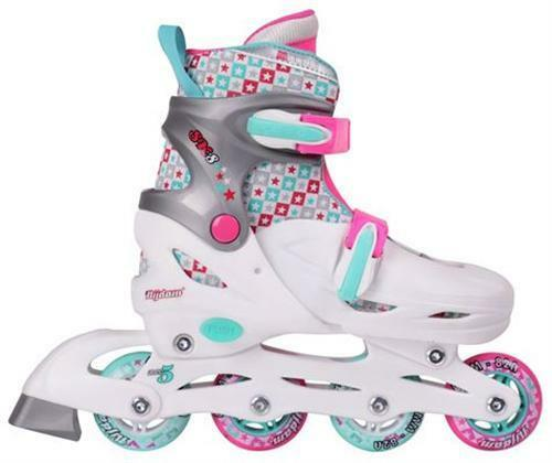 Kinder Skater Inliner Girls  ABEC 5 Größe verstellbar 38 39 40 41 weiß Inlineskating