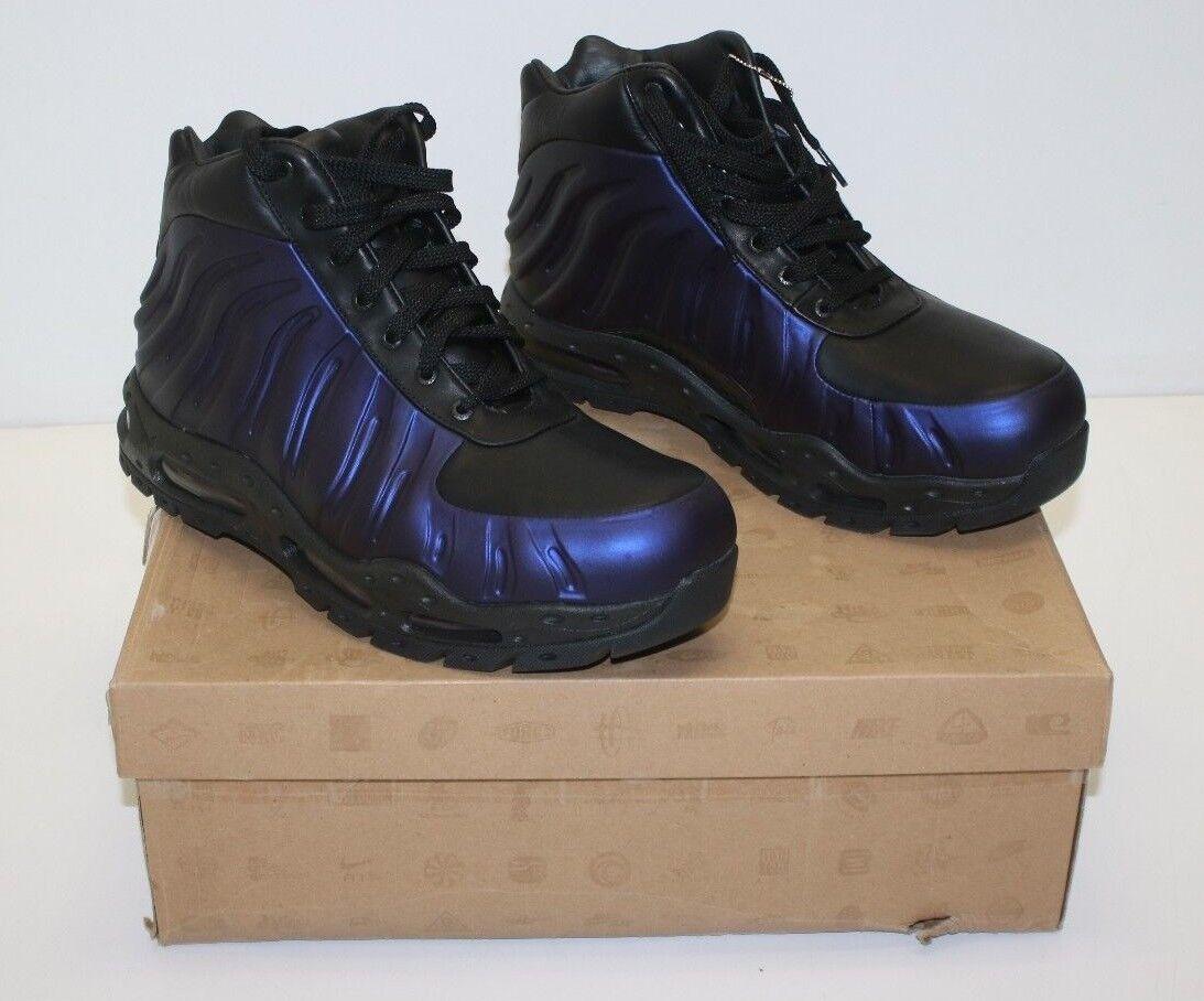 Nike ACG Foamposite 333791 504 Varsity Purple Black Boots Size 10(US) 44(EUR)