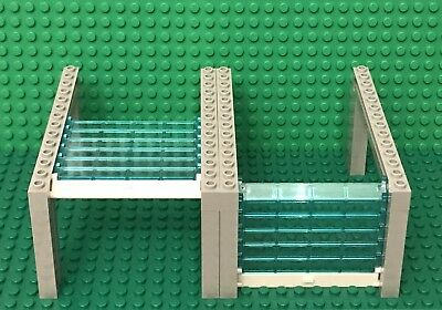 Lego New X2 Light bluish gray garage with trans-clear rollers,white handle part