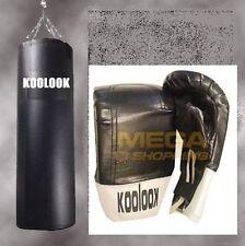 SACCO BOXE E PUGILATO /KIT BASIC SACCO BOX NERO KG 30 ULTRA STRONG + GUANTINI !!