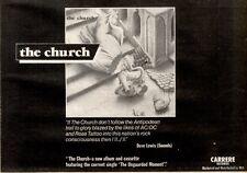 20/3/1982Pg37 Album Advert 7x10 The Church/the Church