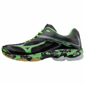 huge discount 7a288 d9ac1 Image is loading Mizuno-WAVE-LIGHTNING-Z3-Black-Green-Men-Volleyball-