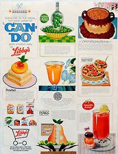 Vintage 1964 Libby's can food juice, fruit, vegetable advertisement print ad