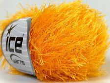 Canary Yellow Eyelash Yarn #22756 Ice Packer's Gold Fun Fur 50 gram