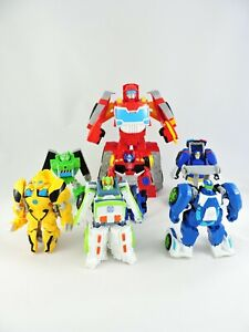Details about TRANSFORMERS RESCUE BOTS LOT of 7 Heatwave CHASE Boulder  BUMBLEBEE Optimus Blurr