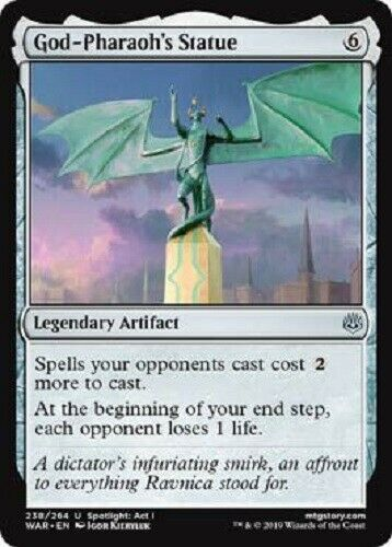 God-Pharaoh's Statue 4x UNCOMMON War of The Spark MTG Magic The Gathering 4x