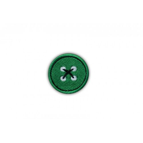 Green button Embroidered PATCH//BADGE