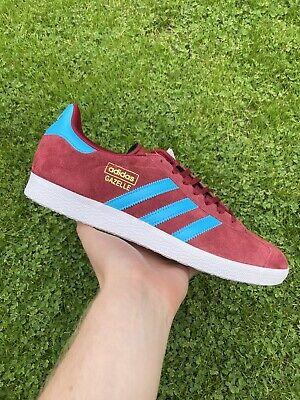 Adidas Gazelles Mens Trainers Claret & Blue West Ham / Aston Villa uk 9 10 11 | eBay