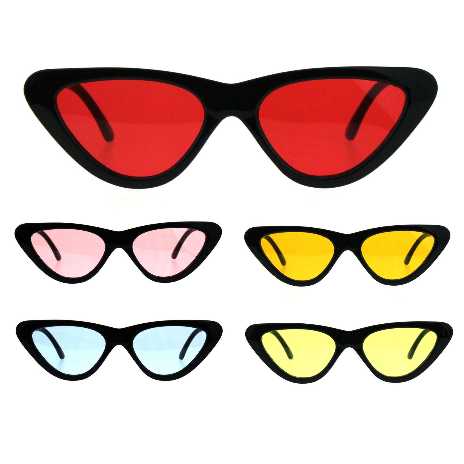 Pop Color Retro Vintage Style Cat Eye Womens Plastic Sunglasses