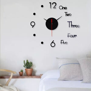 DIY-Large-Wall-Clock-Big-Watch-Decal-3D-Stickers-Roman-Numerals-Modern-Home-USA