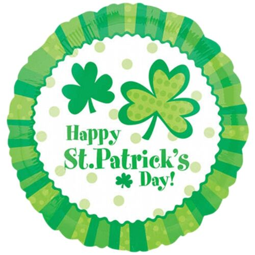 "/""Happy St Patrick/'s Day/"" 45cm Foil Balloon St Patrick/'s Day Party Supplies"