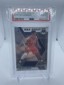 2019 Zion Williamson Rookie Mosaic NBA Debut PSA 10 #269 Panini RC