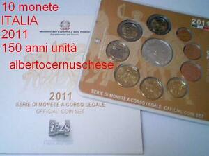 2011-coffret-BU-10-pieces-EURO-ITALIE-ITALIA-150-ans-unifications-Italien-Italy