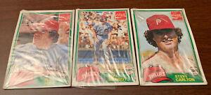 LOT-3-1981-Topps-Baseball-MLB-Cello-Coke-Packs-Cards-ROSE-SCHMIDT-Phil-PHILLIES