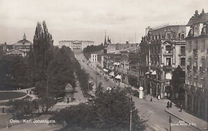 Postcard-RPPC-Karl-Johansgate-Oslo-Norway