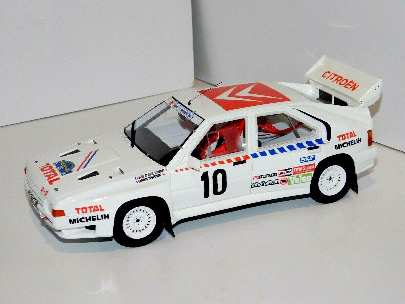 Citroen BX 4TC Guppe B Schweden Rally 1986 Nr 166 1//18 Otto Modell Auto mit oder