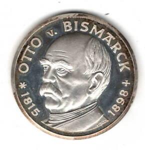 Medaille-PP-Otto-von-Bismarck-10-7g-Silber-fein-Revers-Kaiserkroenung-Wilh-I