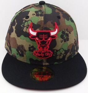 eba7ba40cbb Chicago Bulls New Era 59FIFTY NBA fitted hat cap windy city Tropical ...