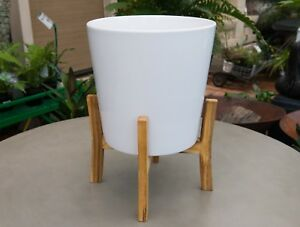 Image Is Loading Garden Patio Planter Mid Century Wood Plant Stand