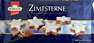 Details About Schulte Cinnamon Stars 175g Zimtsterne German Christmas Cookies With Cinnamon