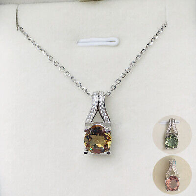 Necklace Sterling Silver 925 0.75ct Russian Diopside Cluster Pendant