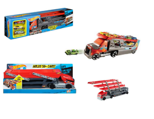 New HOT WHEELS CITY BLASTIN/' RIG CAR TRANSPORTER Includes 3 toy Cars
