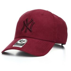 a159ac93bdc 47 Brand Mlb New York Yankees Clean Up Curved V Relax Fit Maroon Men ...