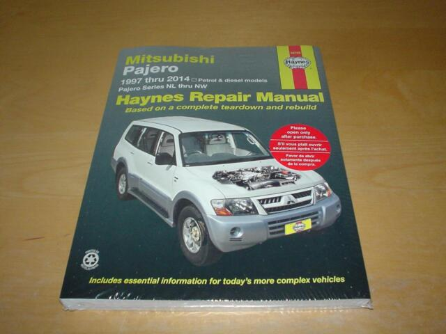 mitsubishi pajero owners manual handbook ebay rh ebay co uk pajero owners manual 1992 pajero owners manual pdf