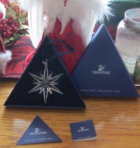 "SWAROVSKI CRYSTAL 2005 CHRISTMAS ""STAR/SNOWFLAKE) ORNAMENT ..."