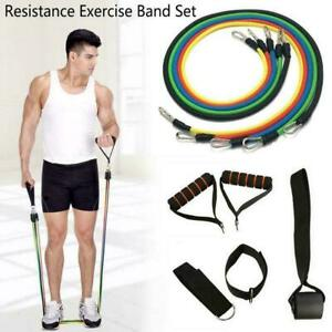 11Pc-Set-Fitness-Training-Tubes-Resistance-Bands-Workout-Exercise-Yoga-Crossfit